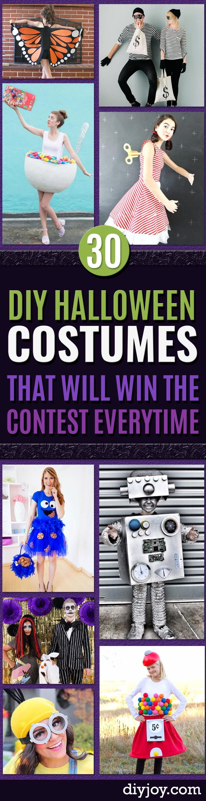 Best DIY Halloween Costume Ideas - Do It Yourself Costumes for Women, Men, Teens, Adults and Couples. Fun, Easy, Clever, Cheap and Creative Costumes That Will Win The Contest