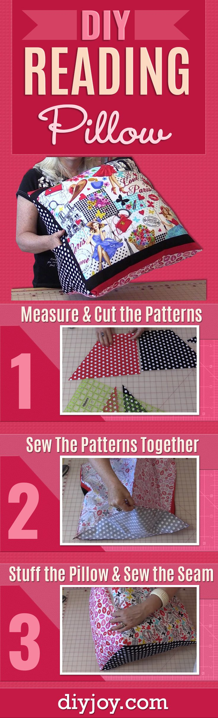 Sewing Tutorial : Back Pillow for Reading or TV Watching