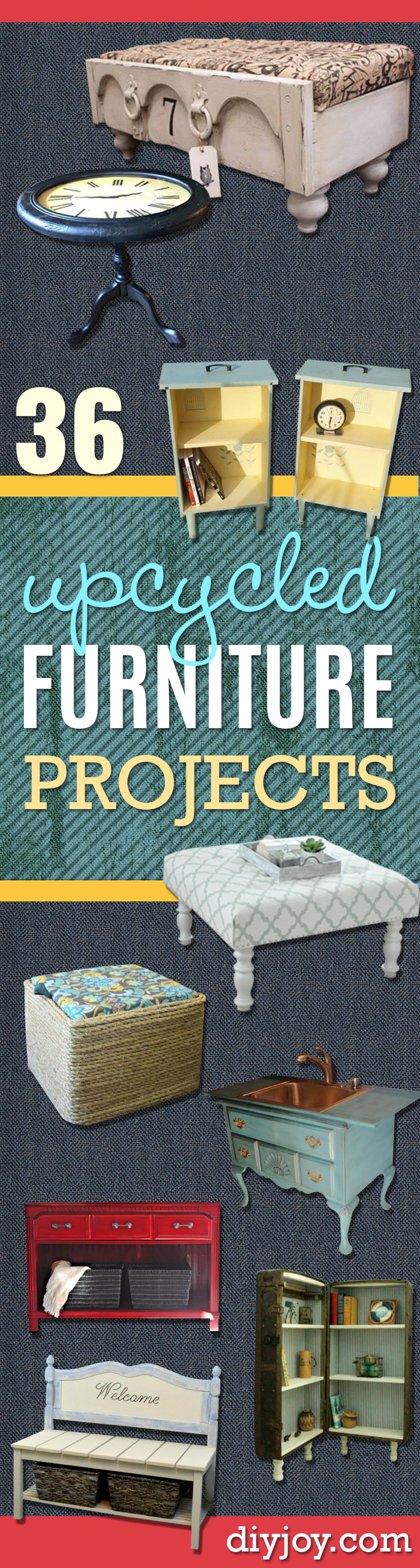 Upcycled Furniture Projects - Repurposed Home Decor and Furniture You Can Make On a Budget. Easy Vintage and Rustic Looks for Bedroom, Bath, Kitchen and Living Room.