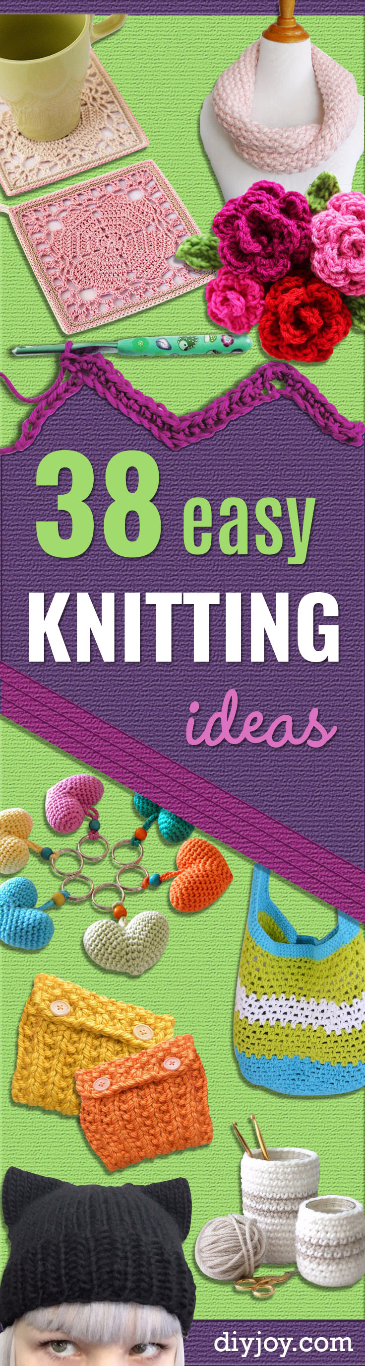 Easy Knitting Projects For Gifts : Easy knitting ideas diy joy