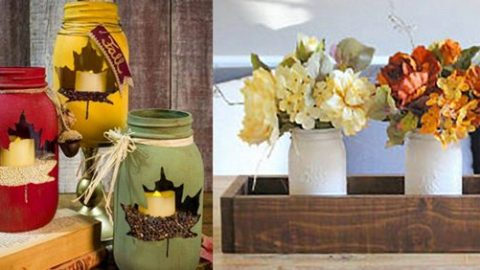 33 Mason Jar Crafts for Fall | DIY Joy Projects and Crafts Ideas