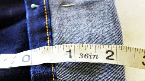 Sewing How to: Learn to Hem Jeans While Keeping The Original Hem | DIY Joy Projects and Crafts Ideas