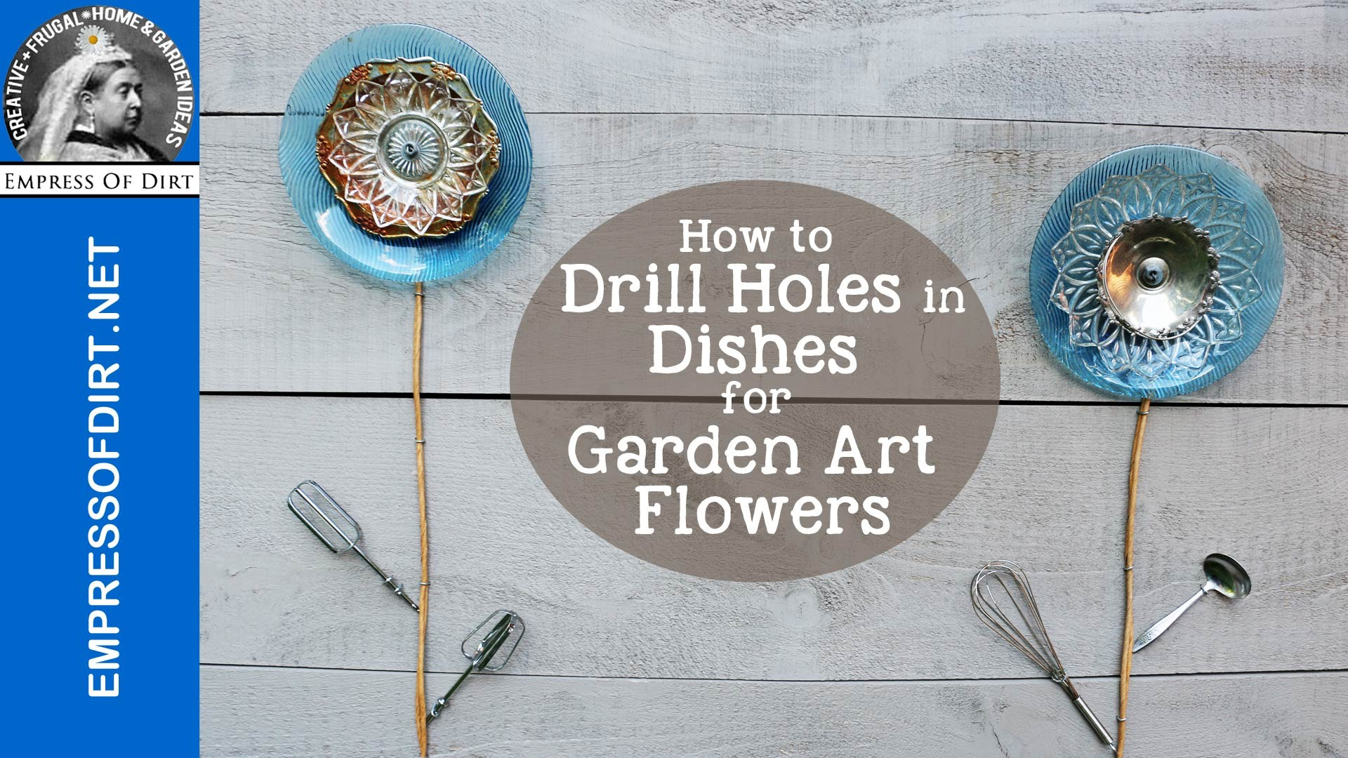 She Shows Us How To Make This Fabulous Yard Art Out Of Old Plates