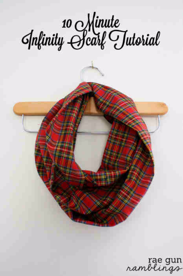 Best DIY Gifts for Girls - 10 Minute Infinity Scarf - Cute Crafts and DIY Projects that Make Cool DYI Gift Ideas for Young and Older Girls, Teens and Teenagers - Awesome Room and Home Decor for Bedroom, Fashion, Jewelry and Hair Accessories - Cheap Craft Projects To Make For a Girl -DIY Christmas Presents for Tweens #diygifts #girlsgifts