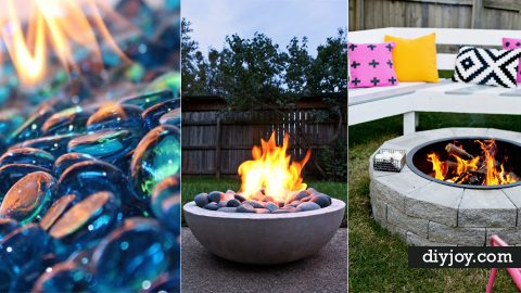 31 DIY Outdoor Fireplace and Firepit Ideas | DIY Joy Projects and Crafts Ideas