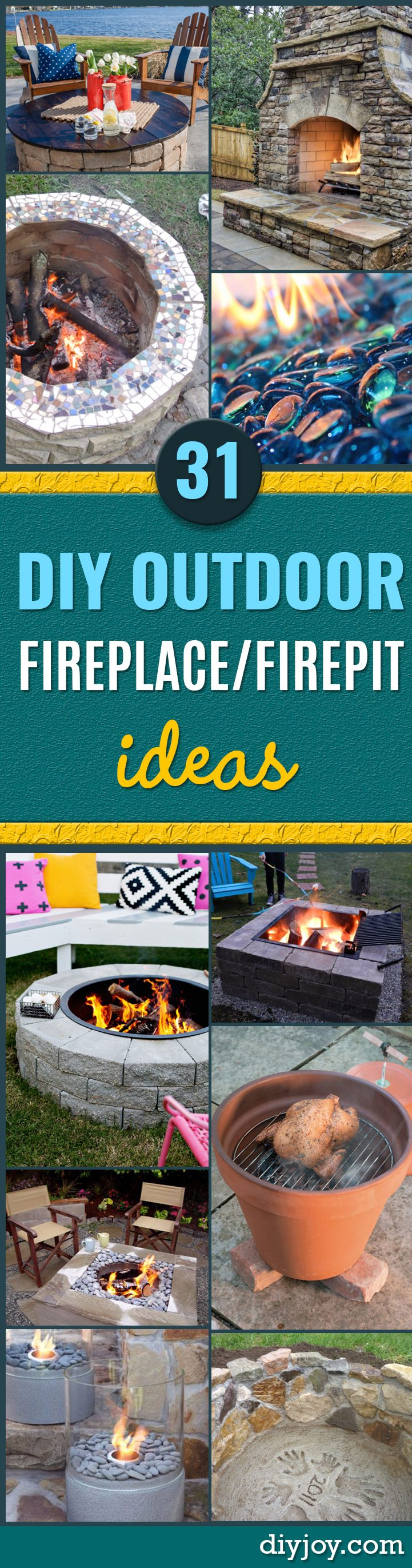 DIY Fireplace Ideas - Do It Yourself Firepit Projects and Fireplaces for Your Yard, Patio, Porch and Home. Outdoor Fire Pit Tutorials for Backyard with Easy Step by Step Tutorials - Cool DIY Projects for Men and Women