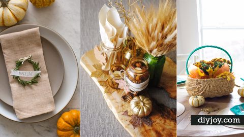 33 Best Thanksgiving Centerpieces and Decor for Your Table | DIY Joy Projects and Crafts Ideas