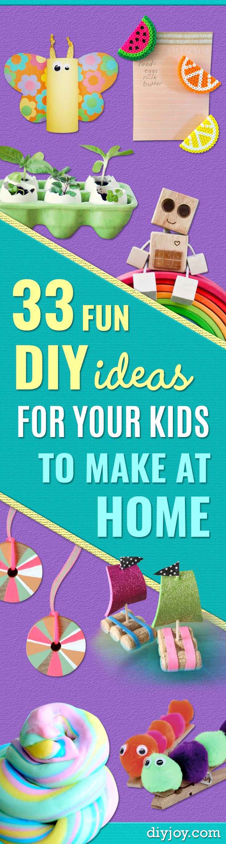 Craft Ideas for Children - Cute Paper Crafts, Fall and Winter Fun, Things For Toddlers, Babies, Boys and Girls to Make At Home http://diyjoy.com/diy-ideas-for-kids-to-make