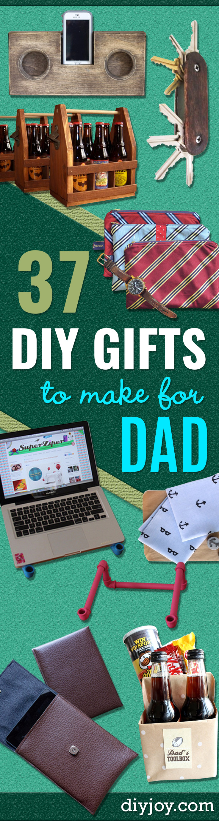37 awesome diy gifts to make for dad for Last minute diy birthday gifts for dad
