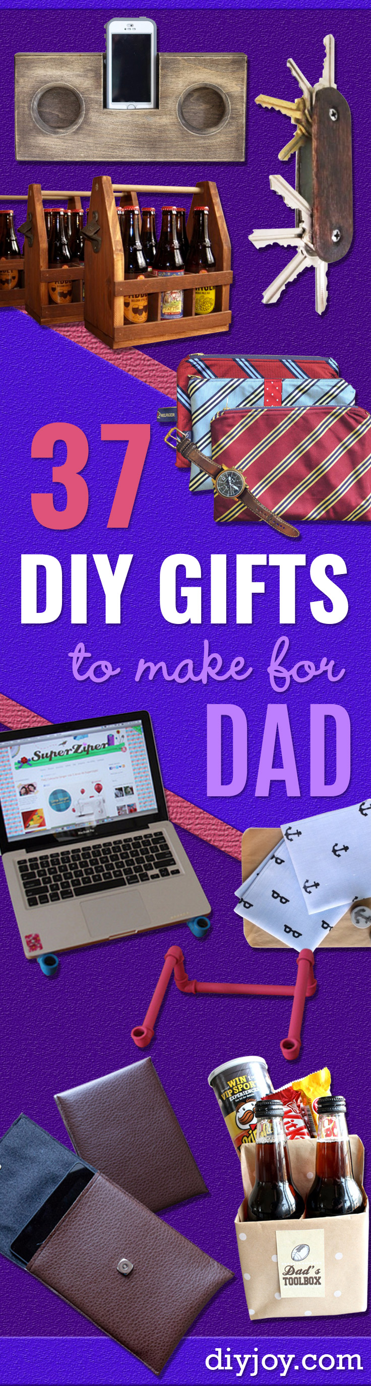 DIY Gifts Ideas for Dad - Best Craft Projects and Gift Ideas You Can Make for Your Father - Last Minute Presents for Birthday and Christmas - Creative Photo Projects, Gift Card Holders, Gift Baskets and Thoughtful Things to Give Fathers and Dads