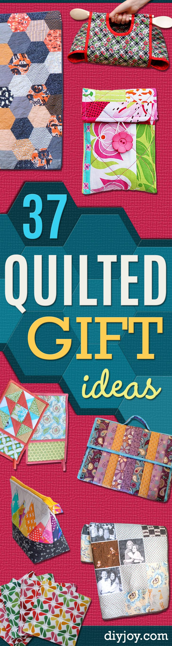 Best Quilting Projects for DIY Gifts - Things You Can Quilt and Sew for Friends, Family and Christmas Gift Ideas - Easy and Quick Quilting Patterns for Presents To Give At Holidays, Birthdays and Baby Gifts. Step by Step Tutorials and Instructions