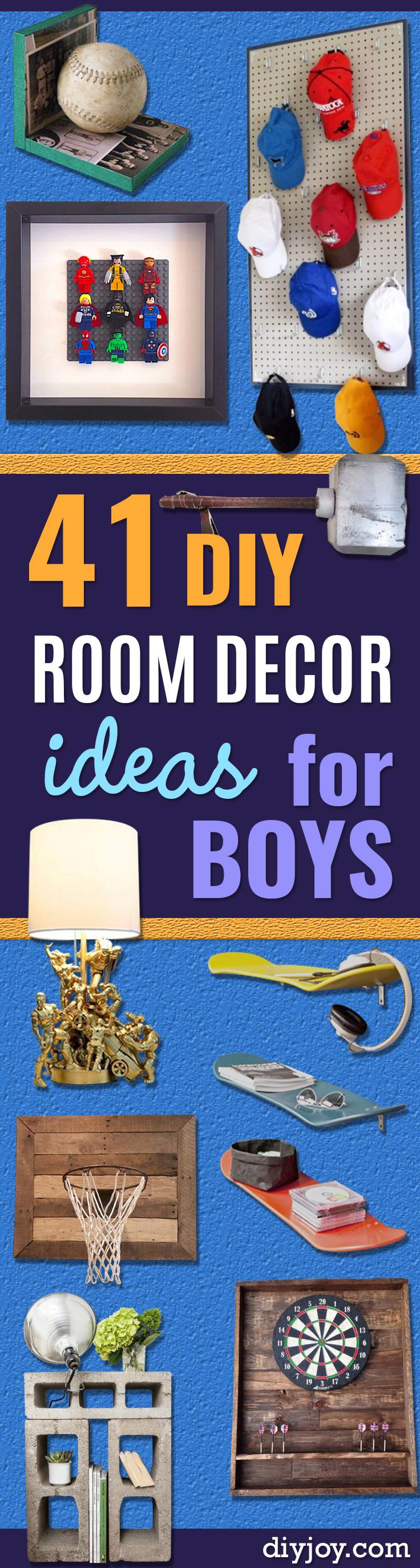 41 super creative diy room decor ideas for boys for Diy room decor zoella