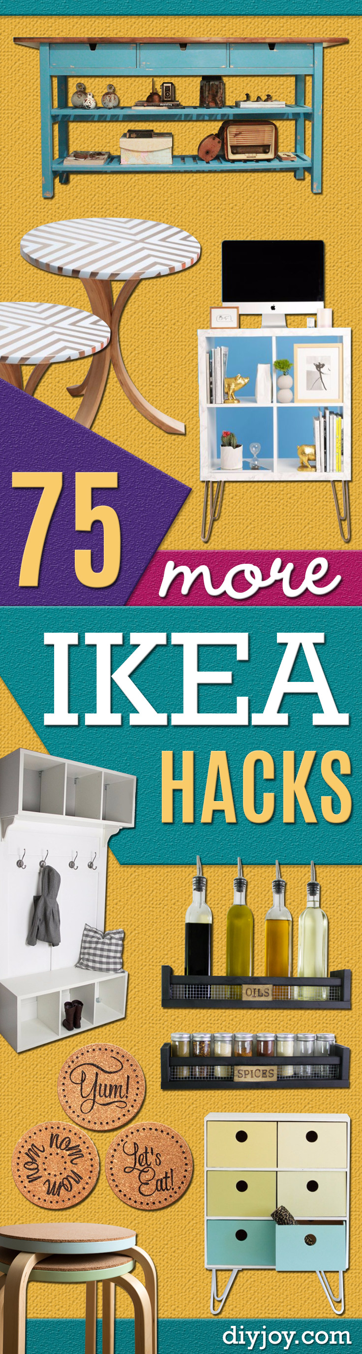 Best IKEA Hacks and DIY Hack Ideas for Furniture Projects and Home Decor from IKEA -Creative IKEA Hack Tutorials for DIY Platform Bed, Desk, Vanity, Dresser, Coffee Table, Storage and Kitchen, Bedroom and Bathroom Decor