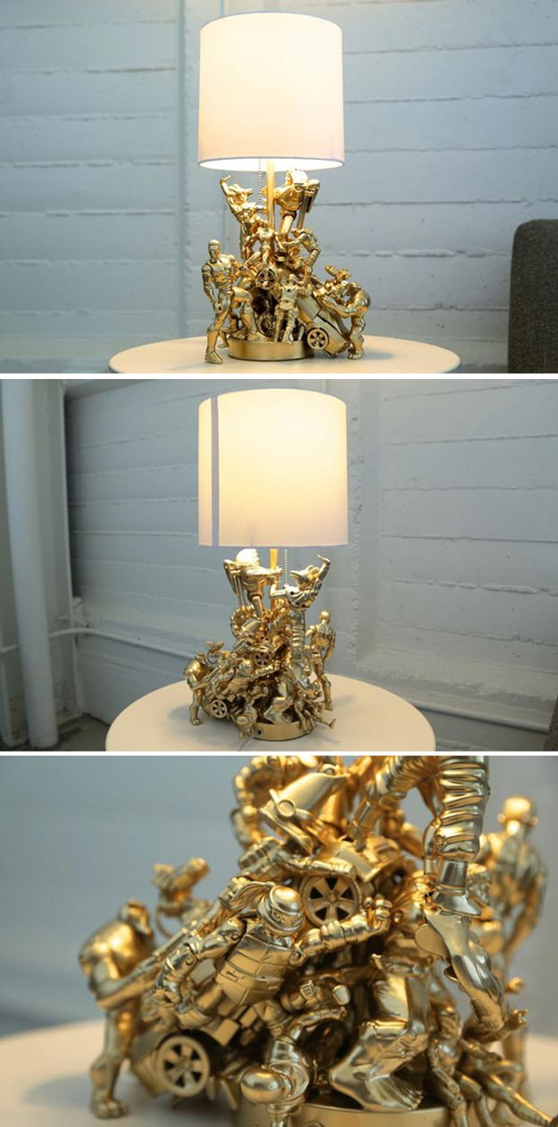 DIY Room Decor for Boys - Action Figure Lamp - Best Creative Bedroom Ideas for Boy Rooms - Wall Art, Lamps, Rugs, Lamps, Beds, Bedding and Furniture You Can Make for Teens, Tweens and Teenagers #diy #homedecor #boys