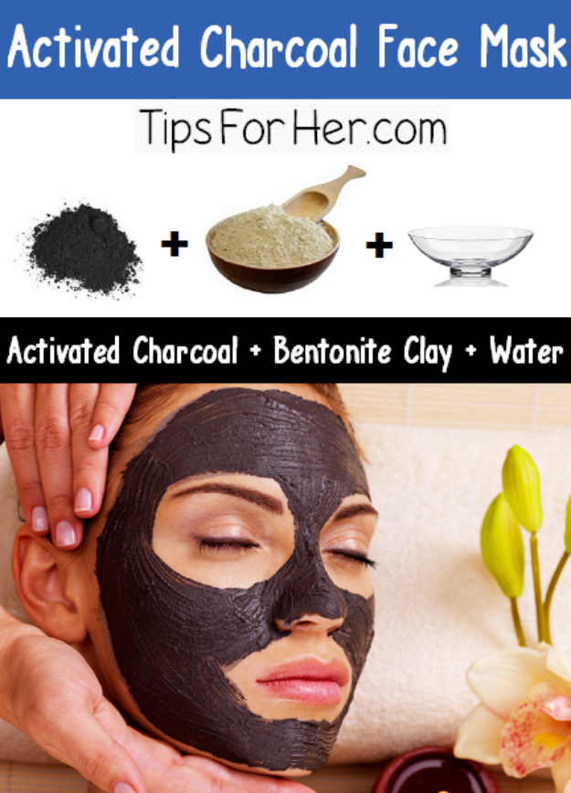 DIY Beauty Hacks - Activated Charcoal Face Mask - Cool Tips for Makeup, Hair and Nails - Step by Step Tutorials for Fixing Broken Makeup, Eye Shadow, Mascara, Foundation - Quick Beauty Ideas for Best Looks in A Hurry #beautyhacks #makeup