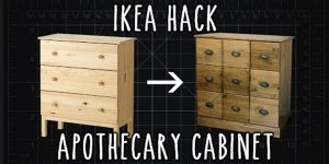 This Is So Cool The Way He Repurposes This Dresser Into This Striking Cabinet!