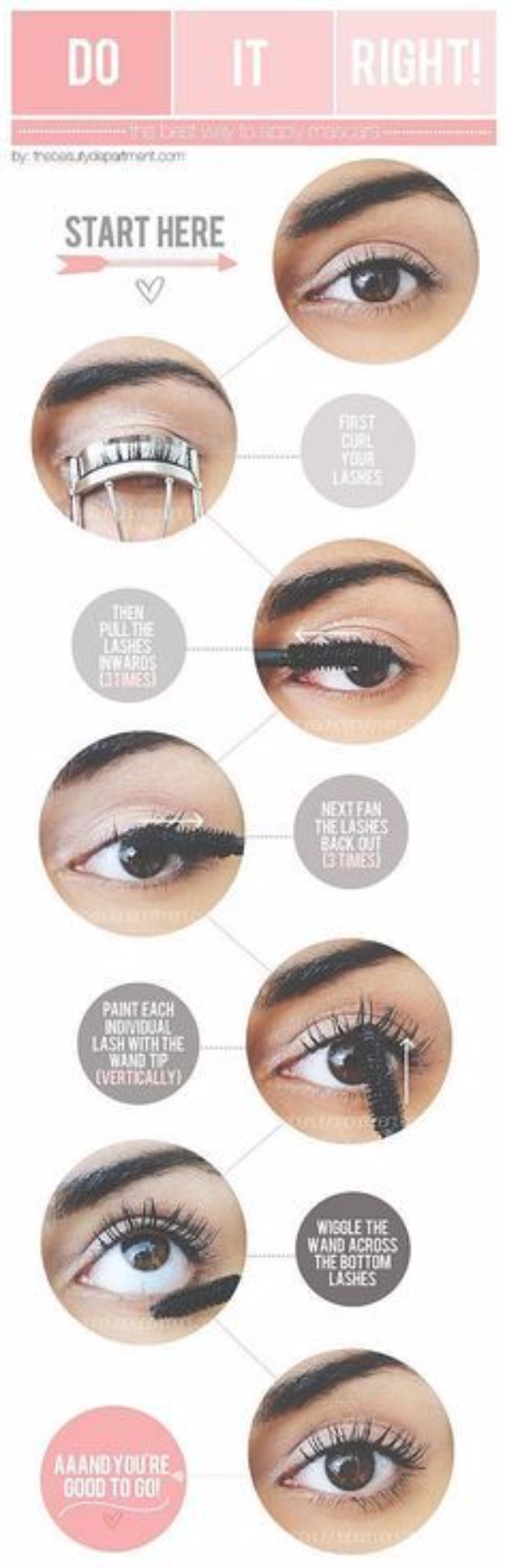 DIY Beauty Hacks - Apply Mascara Perfectly - Cool Tips for Makeup, Hair and Nails - Step by Step Tutorials for Fixing Broken Makeup, Eye Shadow, Mascara, Foundation - Quick Beauty Ideas for Best Looks in A Hurry #beautyhacks #makeup
