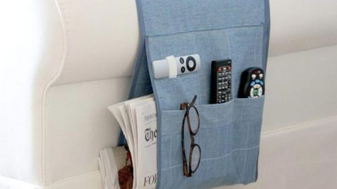 She Got Tired Of Looking for Her Remote And Glasses–She Made This Wonderful Caddy!   DIY Joy Projects and Crafts Ideas