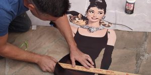 Watch The Amazing Thing He Does With A Famous Picture Of Our Beloved Audrey Hepburn!