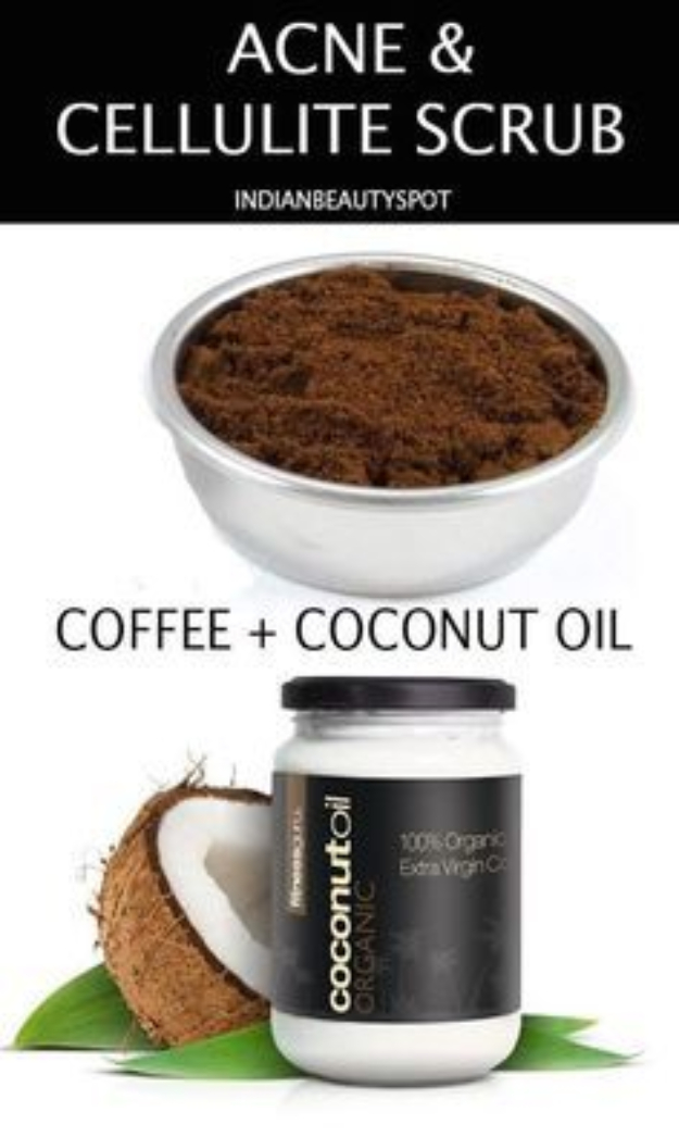 DIY Beauty Hacks - Banish Cellulite With Coffee Scrub - Cool Tips for Makeup, Hair and Nails - Step by Step Tutorials for Fixing Broken Makeup, Eye Shadow, Mascara, Foundation - Quick Beauty Ideas for Best Looks in A Hurry #beautyhacks #makeup