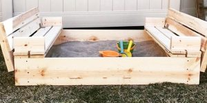 Watch How He Makes This Awesome Sandbox With Bench Seats!