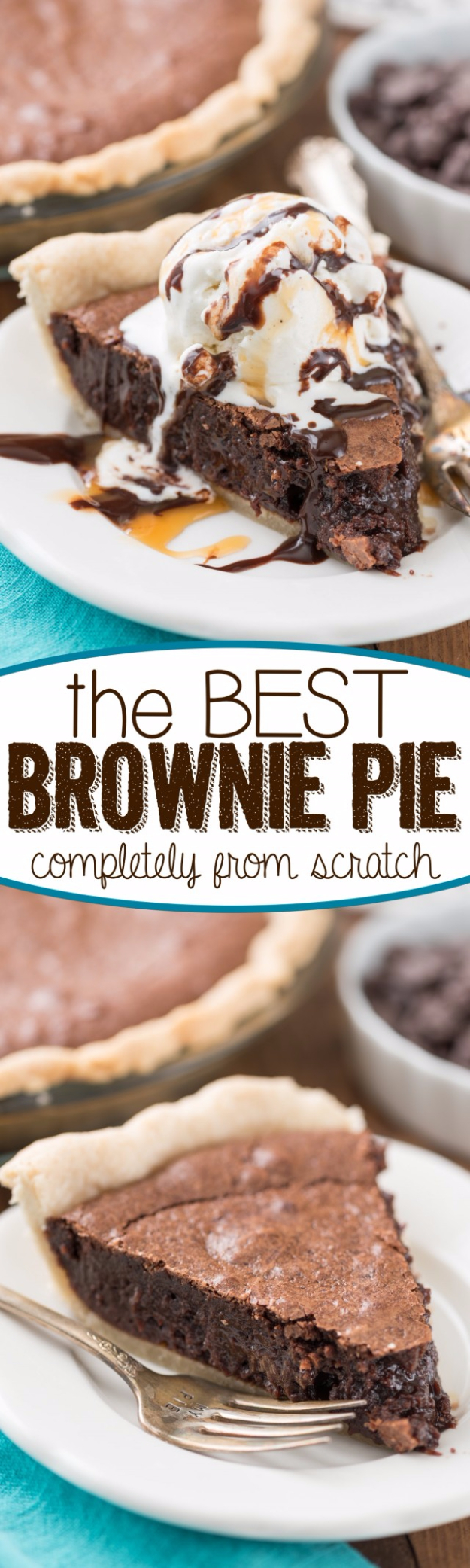 Best Pie Recipes - Best Brownie Pie - Easy Pie Recipes From Scratch for Pecan, Apple, Banana, Pumpkin, Fruit, Peach and Chocolate Pies. Yummy Graham Cracker Crusts and Homemade Meringue #recipes #dessert
