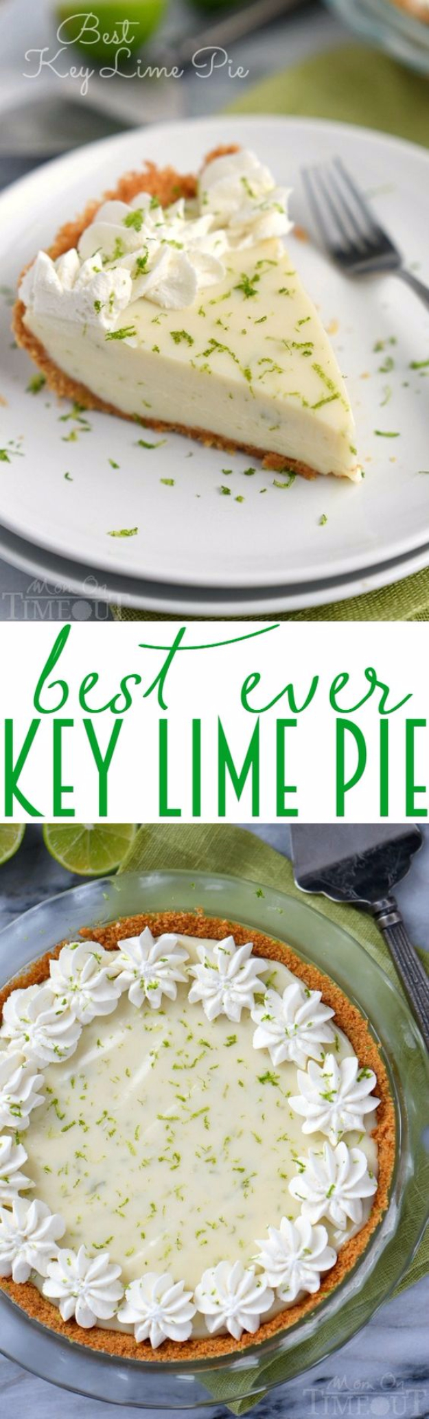 Best Pie Recipes - Best Key Lime Pie - Easy Pie Recipes From Scratch for Pecan, Apple, Banana, Pumpkin, Fruit, Peach and Chocolate Pies. Yummy Graham Cracker Crusts and Homemade Meringue #recipes #dessert