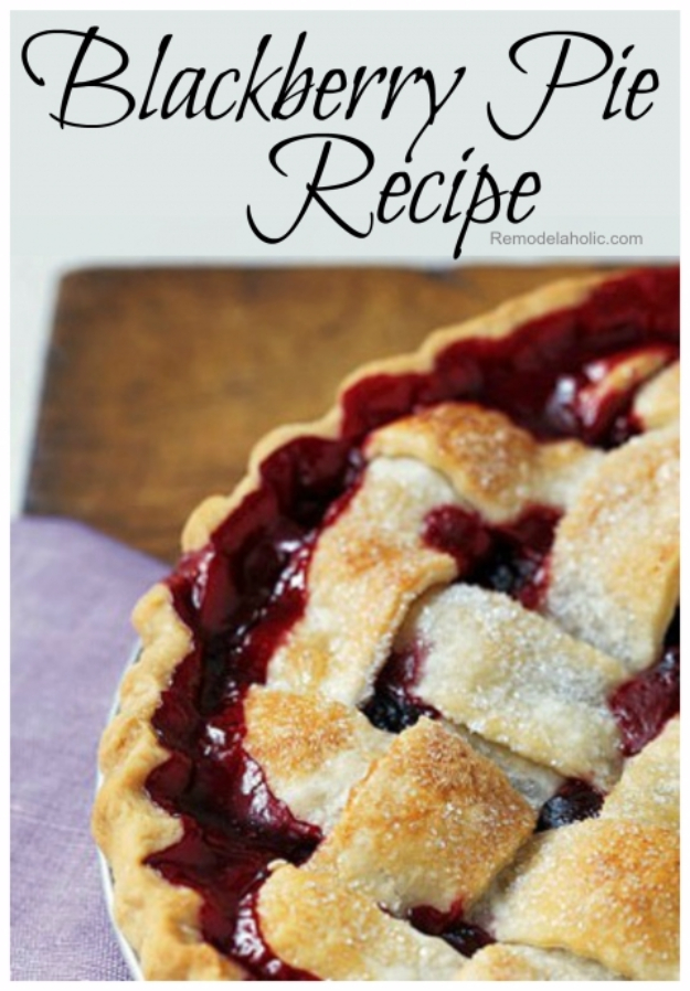 Best Pie Recipes - Blackberry Pie - Easy Pie Recipes From Scratch for Pecan, Apple, Banana, Pumpkin, Fruit, Peach and Chocolate Pies. Yummy Graham Cracker Crusts and Homemade Meringue #recipes #dessert