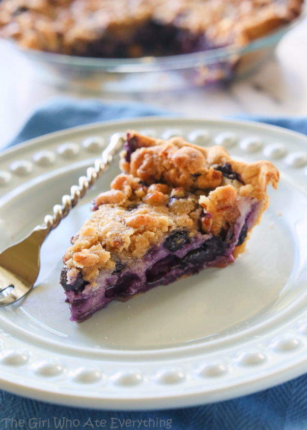 Best Pie Recipes - Blueberry Custard Pie - Easy Pie Recipes From Scratch for Pecan, Apple, Banana, Pumpkin, Fruit, Peach and Chocolate Pies. Yummy Graham Cracker Crusts and Homemade Meringue #recipes #dessert