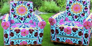 He Shows Us A Quick And Easy Way To Reupholster An Old Chair Into Something Amazing!