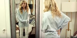 Watch The Glamour Hack She Does With Her Boyfriend's Shirt (Brillant!)