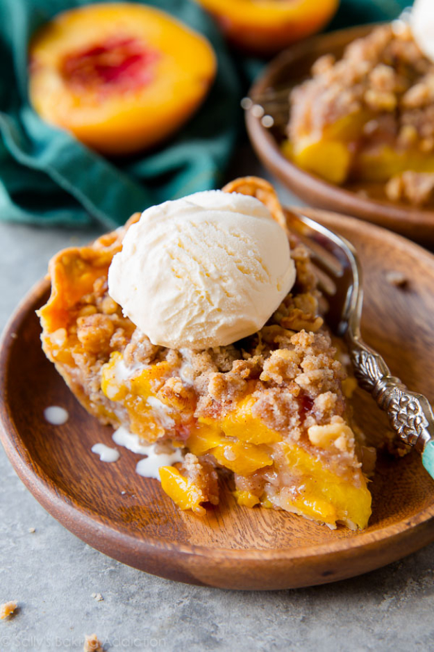 Best Pie Recipes - Brown Sugar Peach Crumble Pie - Easy Pie Recipes From Scratch for Pecan, Apple, Banana, Pumpkin, Fruit, Peach and Chocolate Pies. Yummy Graham Cracker Crusts and Homemade Meringue #recipes #dessert