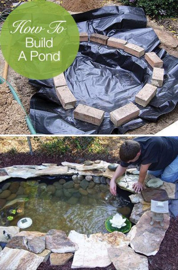 DIY Landscaping Hacks - Build A Garden Pond - Easy Ways to Make Your Yard and Home Look Awesome in Fall, Winter, Spring and Fall. Backyard Projects for Beginning Gardeners and Lawns - Tutorials and Step by Step Instructions
