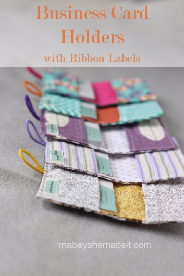 DIY Gifts To Sew For Friends - Business Card Holders - Quick and Easy Sewing Projects and Free Patterns for Best Gift Ideas and Presents - Creative Step by Step Tutorials for Beginners - Cute Home Decor, Accessories, Kitchen Crafts and DIY Fashion Ideas #diy #crafts #sewing
