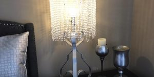 She Shows You How To Make A Fabulous Chandelier Lampshade On The Cheap!