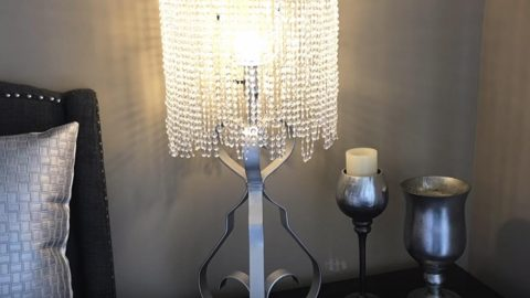 She shows you how to make a fabulous chandelier lampshade on the cheap aloadofball Images