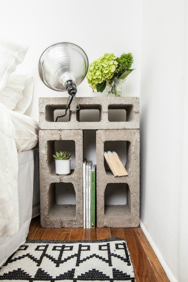 DIY Room Decor for Boys - Cinder Block Furniture - Best Creative Bedroom Ideas for Boy Rooms - Wall Art, Lamps, Rugs, Lamps, Beds, Bedding and Furniture You Can Make for Teens, Tweens and Teenagers #diy #homedecor #boys