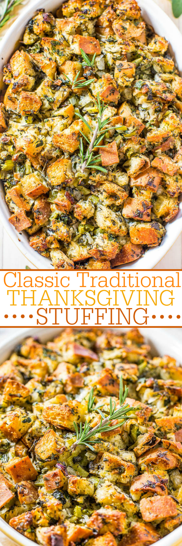 Best Thanksgiving Dinner Recipes - Classic Traditional Thanksgiving Stuffing - Easy DIY Desserts, Sides, Sauces, Main Courses, Vegetables, Pie and Side Dishes. Simple Gravy, Cranberries, Turkey and Pies With Step by Step Tutorials