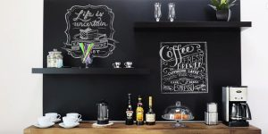 What A Great Way To Re-Design A Boring Wall With An Eye Catching Coffee Bar (Watch!)