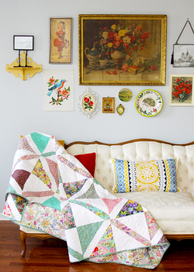 DIY Gifts To Sew For Friends - Colorful Crosshatch Quilt - Quick and Easy Sewing Projects and Free Patterns for Best Gift Ideas and Presents - Creative Step by Step Tutorials for Beginners - Cute Home Decor, Accessories, Kitchen Crafts and DIY Fashion Ideas #diy #crafts #sewing