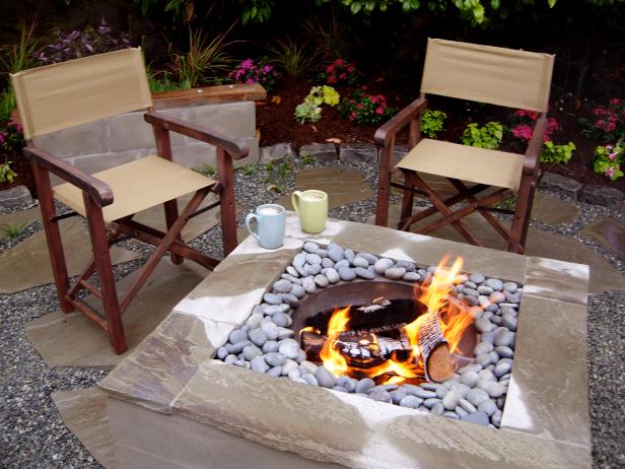 DIY Fireplace Ideas - Concrete Fire Feature - Do It Yourself Firepit Projects and Fireplaces for Your Yard, Patio, Porch and Home. Outdoor Fire Pit Tutorials for Backyard with Easy Step by Step Tutorials - Cool DIY Projects for Men #diyideas #outdoors #diy