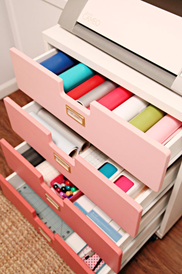 Best IKEA Hacks and DIY Hack Ideas for Furniture Projects and Home Decor from IKEA - Crafty Storage Cart - Creative IKEA Hack Tutorials for DIY Platform Bed, Desk, Vanity, Dresser, Coffee Table, Storage and Kitchen, Bedroom and Bathroom Decor http://diyjoy.com/best-ikea-hacks