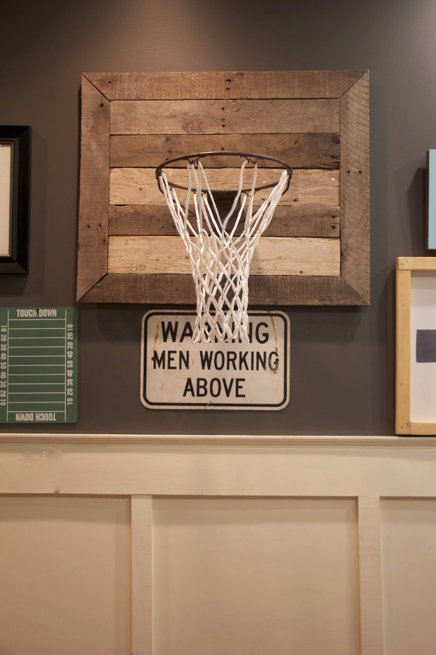 DIY Room Decor for Boys - DIY Basketball Hoop - Best Creative Bedroom Ideas for Boy Rooms - Wall Art, Lamps, Rugs, Lamps, Beds, Bedding and Furniture You Can Make for Teens, Tweens and Teenagers #diy #homedecor #boys