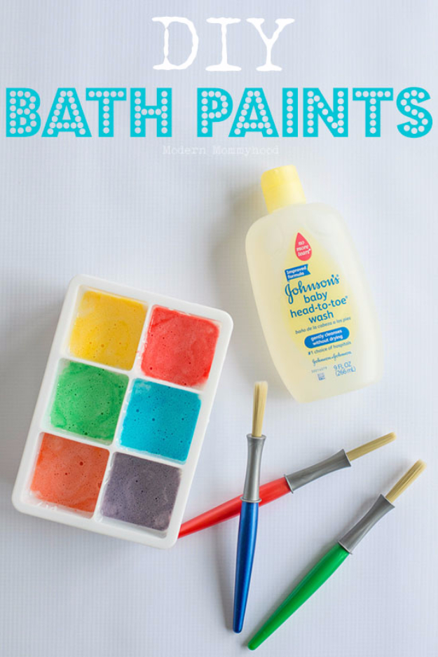 Crafts For Kids To Make At Home - DIY Bath Paints - Cheap DIY Projects and Fun Craft Ideas for Children - Cute Paper Crafts, Fall and Winter Fun, Things For Toddlers, Babies, Boys and Girls #kidscrafts #crafts #kids