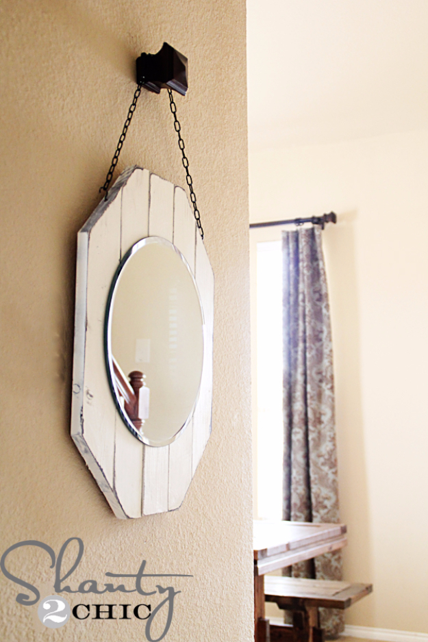 DIY Mirrors - DIY Board Mirror - Best Do It Yourself Mirror Projects and Cool Crafts Using Mirrors - Home Decor, Bedroom Decor and Bath Ideas - Step By Step Tutorials With Instructions