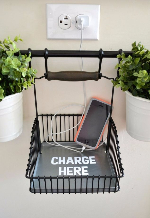 Best IKEA Hacks and DIY Hack Ideas for Furniture Projects and Home Decor from IKEA - DIY Charging Station - Creative IKEA Hack Tutorials for DIY Platform Bed, Desk, Vanity, Dresser, Coffee Table, Storage and Kitchen, Bedroom and Bathroom Decor #ikeahacks #diy