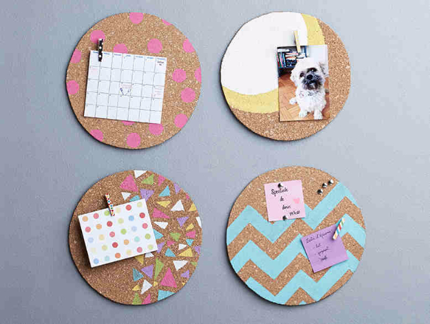 Best DIY Gifts for Girls - DIY Cork Pin Board - Cute Crafts and DIY Projects that Make Cool DYI Gift Ideas for Young and Older Girls, Teens and Teenagers - Awesome Room and Home Decor for Bedroom, Fashion, Jewelry and Hair Accessories - Cheap Craft Projects To Make For a Girl -DIY Christmas Presents for Tweens #diygifts #girlsgifts