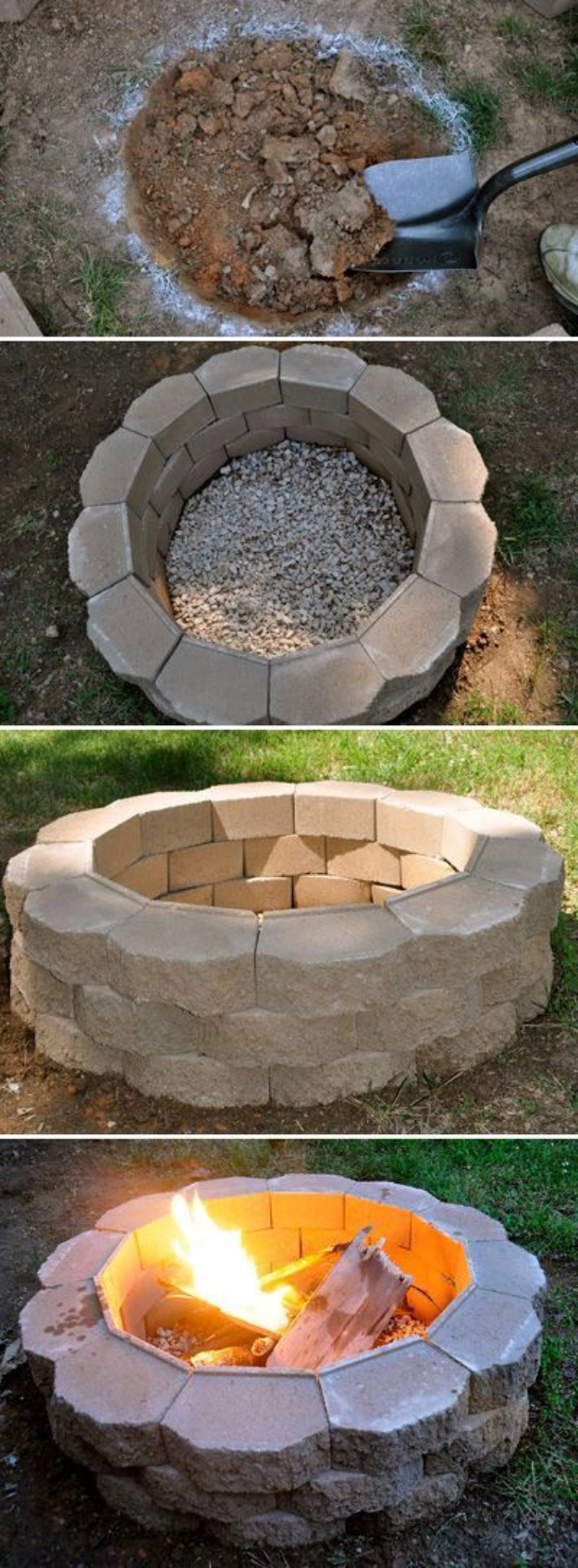 DIY Fireplace Ideas - DIY Fire Pit - Do It Yourself Firepit Projects and Fireplaces for Your Yard, Patio, Porch and Home. Outdoor Fire Pit Tutorials for Backyard with Easy Step by Step Tutorials - Cool DIY Projects for Men #diyideas #outdoors #diy