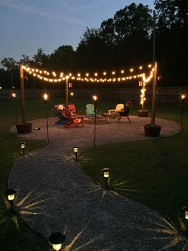 DIY Fireplace Ideas - DIY Firepit And Seating Area - Do It Yourself Firepit Projects and Fireplaces for Your Yard, Patio, Porch and Home. Outdoor Fire Pit Tutorials for Backyard with Easy Step by Step Tutorials - Cool DIY Projects for Men #diyideas #outdoors #diy