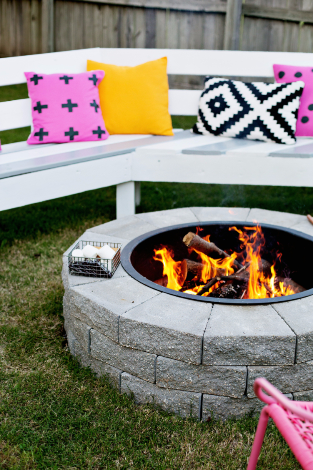 DIY Fireplace Ideas - DIY Firepit In 4 Easy Steps - Do It Yourself Firepit Projects and Fireplaces for Your Yard, Patio, Porch and Home. Outdoor Fire Pit Tutorials for Backyard with Easy Step by Step Tutorials - Cool DIY Projects for Men #diyideas #outdoors #diy